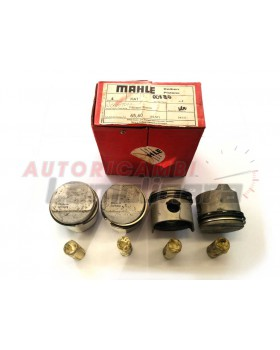 PISTON SET MAHLE FOR FIAT 850 / 127 DIAM 65,60 65 + 0,60mm w sport compression
